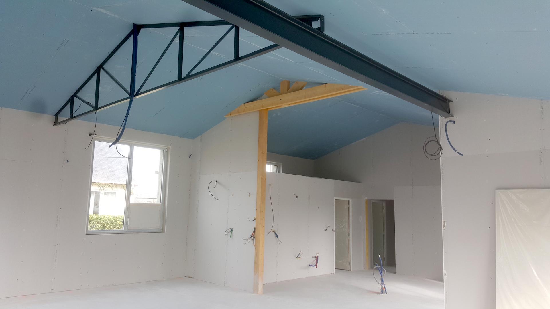 isolation et am nagement int rieur d 39 une maison rt2012 saint cast le guildo. Black Bedroom Furniture Sets. Home Design Ideas